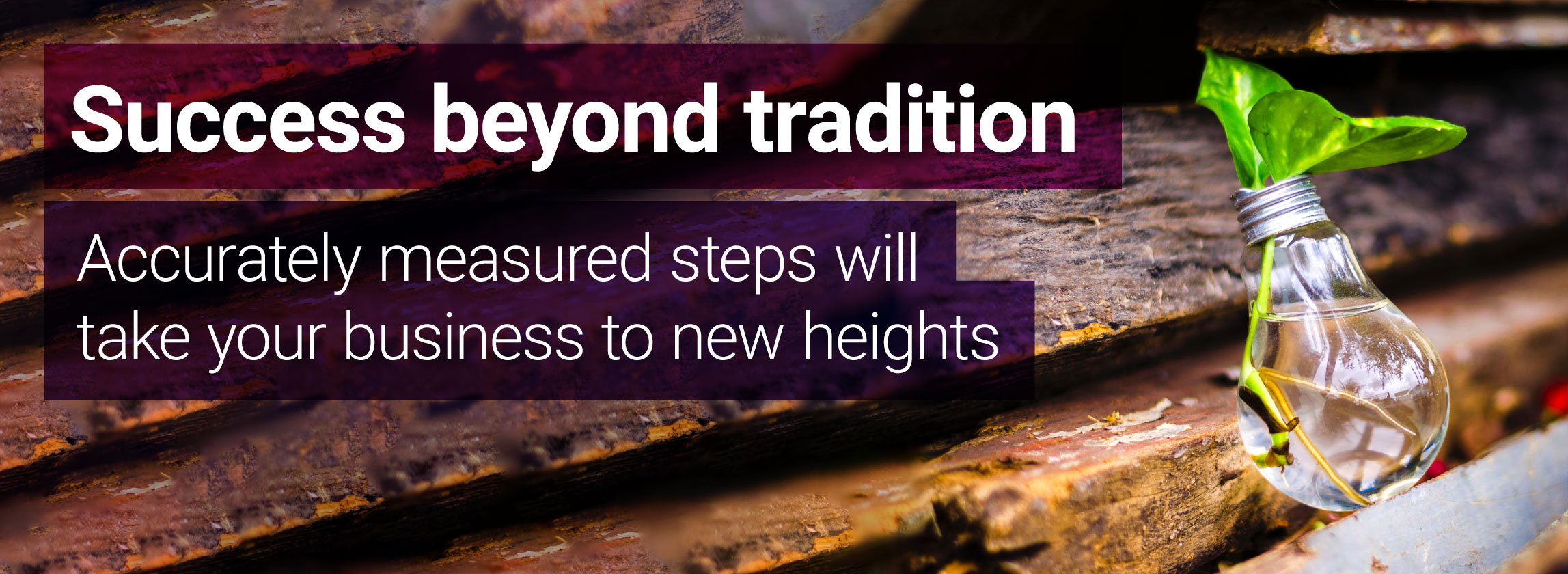 Success beyond tradition, taking your business to new heights